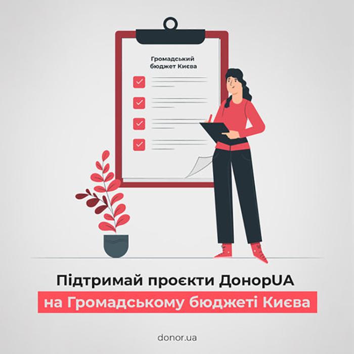 Проєкти ДонорUA винесли на голосування Громадського бюджету Києва